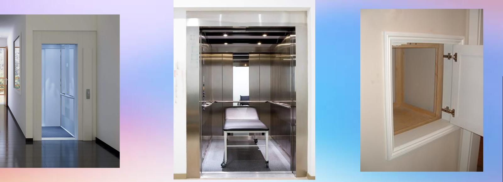 Hospital elevators, Dumb waiters